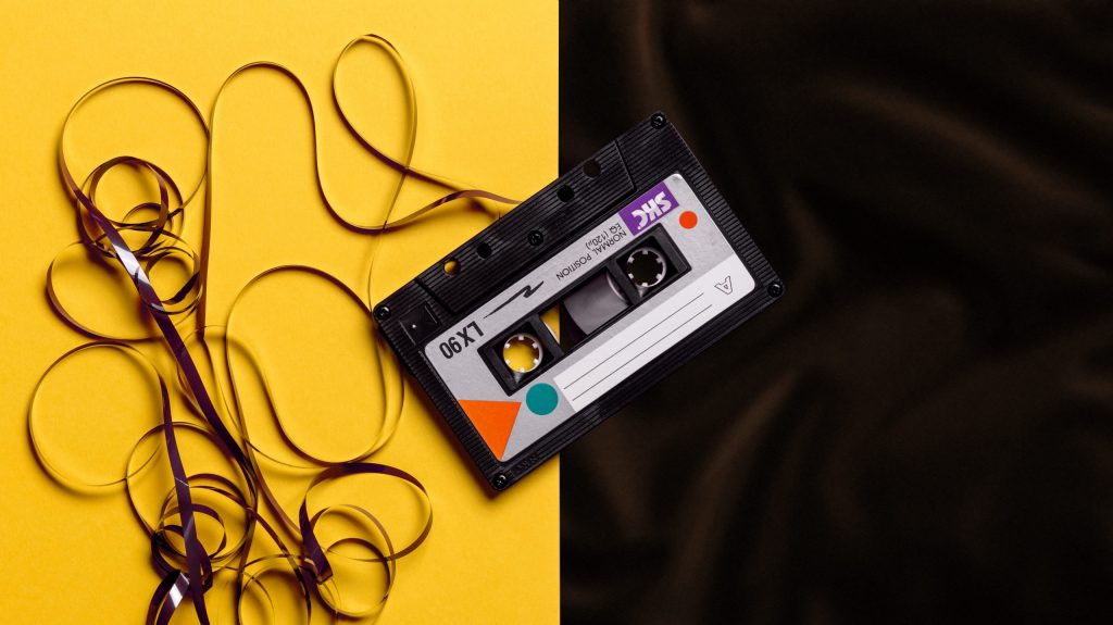 Casette tape from early design research sessions